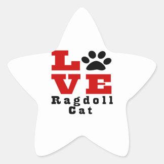 Love Ragdoll Cat Designes Star Sticker