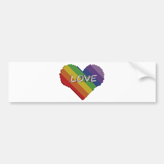 Love rainbow bumper sticker