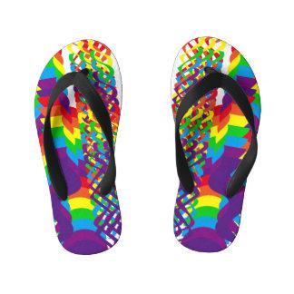 Love Rainbow Colors Design Flip Flops