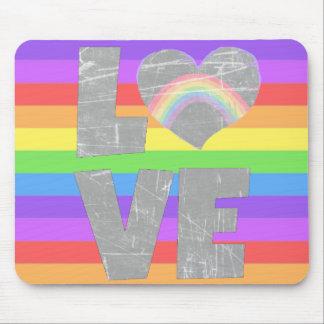 Love Rainbow Heart Mouse Pad
