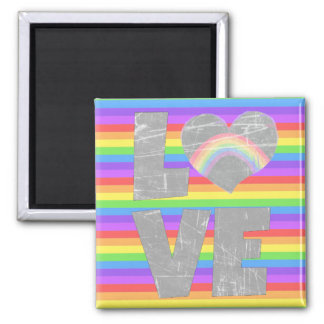 Love Rainbow in Heart Magnet