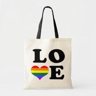 Love Rainbow Pride Budget Tote Bag