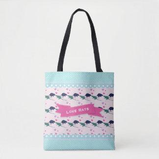 Love Rats Polka Dot Tote Bag