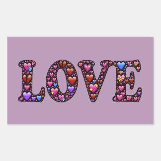 LOVE RECTANGULAR STICKER