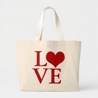 Love, red heart/DIY text Jumbo Tote Bag