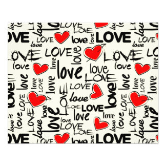 Love Red Heart Pattern 11.5 Cm X 14 Cm Flyer