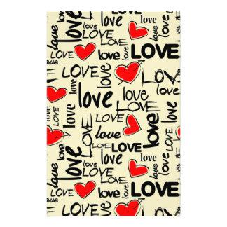 Love Red Heart Pattern 14 Cm X 21.5 Cm Flyer