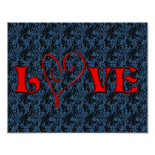 Love Red Heart Poster Print