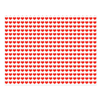 Love red hearts postcard