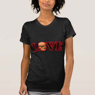 Love Red Skull Orange The MUSEUM Zazzle Gifts T Shirt