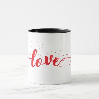 Love-Red Text-Decor Modern Mug