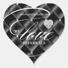 Love Referrals Sticker Jewellery Heart