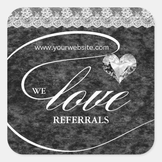 Love Referrals Sticker Jewellery Heart Crush