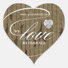 Love Referrals Sticker Jewellery Heart Wood