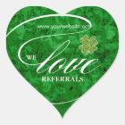 Love Referrals Sticker Jewellery Lucky Clover