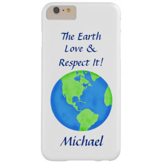Love Respect Earth Globe Name Personalized Barely There iPhone 6 Plus Case