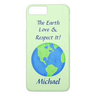 Love Respect Earth Globe Name Personalized Green iPhone 7 Plus Case