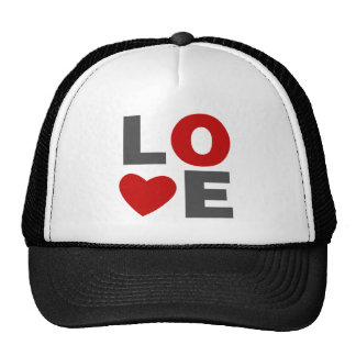 Love Retro Valentines Day Trucker Hats