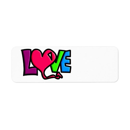LOVE RETURN ADDRESS LABEL