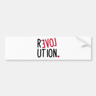 LOVE Revolution <3 Bumper Sticker
