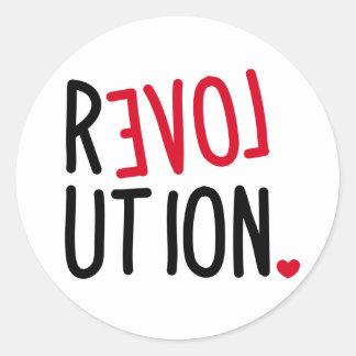 LOVE Revolution <3 Round Sticker