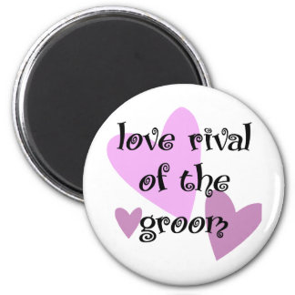 Love Rival of the Groom 6 Cm Round Magnet