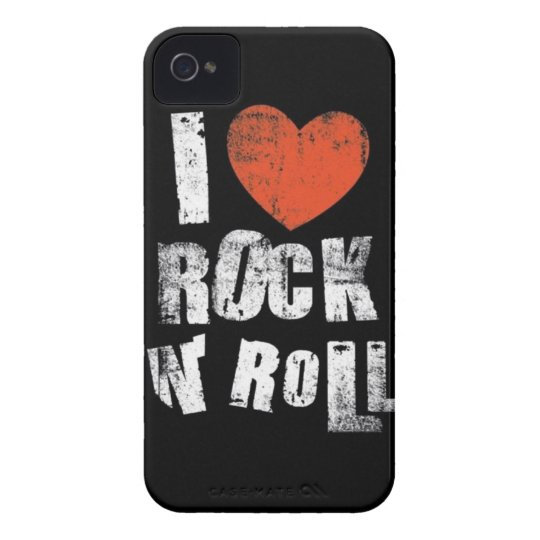 Love Rock N' Roll Case-Mate iPhone 4 Case