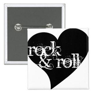 Love Rock & Roll Design 15 Cm Square Badge
