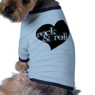 Love Rock & Roll Design Dog Tee