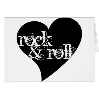Love Rock & Roll Design Greeting Card