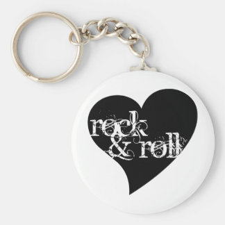 Love Rock & Roll Design Keychain