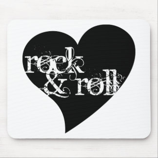 Love Rock Roll Design Mouse Pads