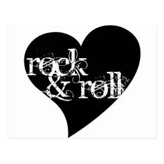 Love Rock & Roll Design Postcard