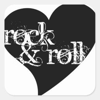 Love Rock Roll Design Square Stickers