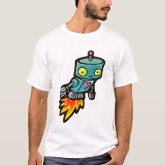 Love Rocket Robot T-Shirt