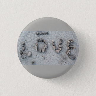 Love Rocks in Uzbekistan: Cool Romantic Photo 3 Cm Round Badge