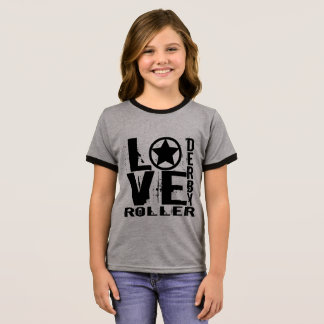 LOVE Roller Derby Ringer T-Shirt