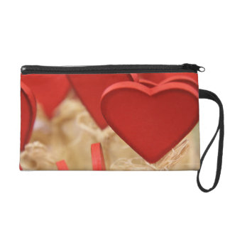 Love Romance Hearts Hay Photography - Red Wristlet
