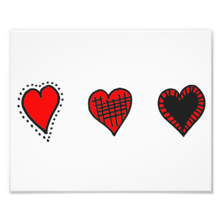 Love, Romance, Hearts - Red Black Photo