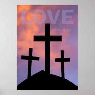 LOVE – Romans 5:8 Print