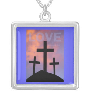 LOVE – Romans 5:8 Square Pendant Necklace