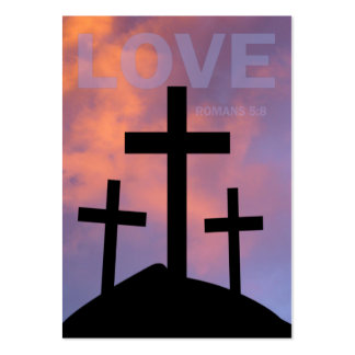 LOVE – Romans 5:8 Tract Cards / Business Card Templates