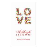 LOVE Romantic Blooms Spring Flowers Profile Card