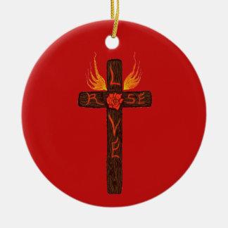 Love Rose Christmas Ornament