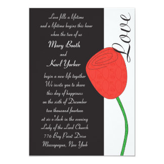 Love Rose Invitation - Reversed