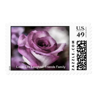 Love Rose - Mauve Pink - Any Use - Postage Stamp