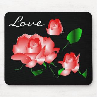 Love Rose Mousepad Mouse Pad