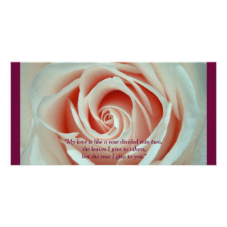 Love Rose Quote Photo Card Template