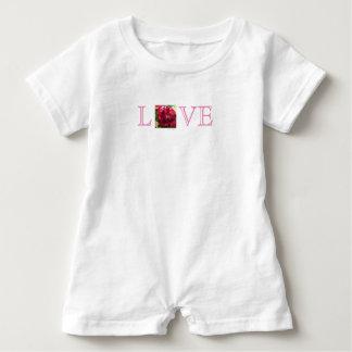 LOVE Rose Watercolor Baby Romper Baby Bodysuit