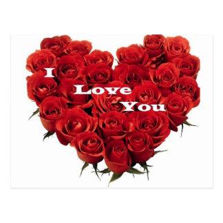 love roses. post card